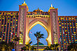 East DUBAI, UAE - NOVEMBER 13: Atlantis Hotel On November 13, 2011 In Dubai, UAE. Atlantis The Palm Is A Luxury 5 Star Hotel Built On An Artificial Island stock photo