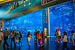 DUBAI, UAE - NOVEMBER 14: Aquarium In Dubai Mall - World's Largest Shopping Mall , Downtown Burj Dubai November 14, 2012 In Dubai, United Arab Emirates stock photography