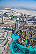 Futuristic DUBAI, UAE - NOVEMBER 14 : Dubai Downtown Day Scene. Aerial View. Luxury New High Tech Town In Middle East, United Arab Emirates Architecture On November 14, 2012 In Dubai, UAE stock photography