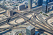 DUBAI, UAE - NOVEMBER 14 : Dubai Downtown Day Scene. Aerial View. Luxury New High Tech Town In Middle East, United Arab Emirates Architecture On November 14, 2012 In Dubai, UAE stock photo
