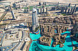 DUBAI, UAE - NOVEMBER 14 : Dubai Downtown Day Scene With City Lights, Luxury New High Tech Town In Middle East, United Arab Emirates Architecture