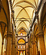 Faith Duomo Santa Maria Del Fiore And Campanile. Florence. Inside Interior. Italy stock image