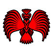 Eagle Symbols And Tattoo, Vector Illustration. stock illustration