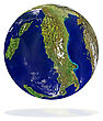 Scenic Earth Planet With Italy At Front stock image