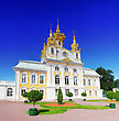 East Chapel Of Petergof Palace In St. Petersburg. Russia stock photo