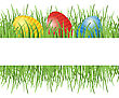Easter Background With Eggs In Grass And Place Foer Your Text