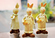 Easter Bunny Figurines stock image