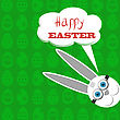 Easter Bunny. Greeting Card With White Easter Rabbit