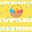 Easter Card With Two Hand Drawn Eggs