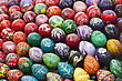 Easter Colorful Eggs. Art Background, Eastern Europe stock image