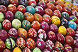 Easter Colorful Eggs. Art Background, Eastern Europe stock photography