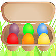Easter Eggs In Cardboard Box
