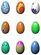 Easter Eggs Isolated On The White stock photography