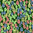 Easter Eggs Seamless Pattern On Green Background stock illustration