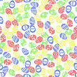 Easter Eggs Seamless Pattern On White Background