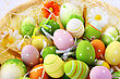 Easter Setting With Colorful Eggs. stock image