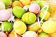 Easter Setting With Colorful Eggs. stock photo