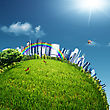 Eco City, Abstract Environmental Backgrounds For Your Design