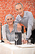 Elderly Couple In Restaurant