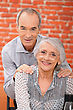 Stripped Elderly Couple stock photography