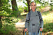 Elderly Person Hiking stock photography