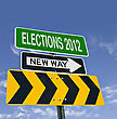 Elections 2012 Next Conceptual Post stock photo