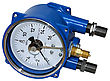 Electric Contact Pressure Gauge In Flameproof Enclosure stock photography