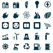 Electricity, Power And Energy Icon Set. Vector Illustration.