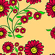 Elegance Seamless Color Pattern On Background