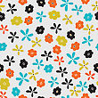 Elegance Stylish Floral Seamless Pattern. Abstract Beautiful Vector Illustration Texture stock vector