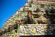 Elements Of Mosaic In Wat Arun, Bangkok, Thailand stock photo