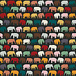 Elephants Texture, Seamless Pattern For Textile, Website Background, Book Cover, Packaging