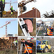 Employees And Building Site stock photography
