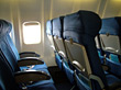 Empty Airplane Cabin stock image
