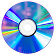 Empty Compact Disc stock image