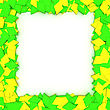 Empty Frame With Yellow-green Stars, Design Element stock image