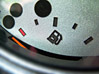 Dashboard Empty Fuel Gauge stock image