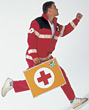 Aid EMS Running stock photo