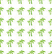 Endless Print Texture With Tropical Palm Trees. Fabric Design - Vector