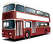 English Double Decker Bus With White Frame For Your Text File Contains Gradients And Blends Gradient And Blends