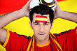 Enthusiastic Spain Supporter stock photo