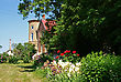 Estonia Lasila. The Old Manor,flowers And Green Park stock photo