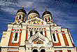 Estonia, Tallinn, Aleksandr Nevski Temple stock photography
