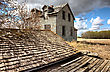 Exterior Abandoned House Prairie Saskatchewan Canada stock photography