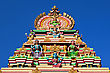 Facade Of The Hindu Temple, South India stock image