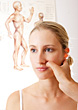 Face Acupressure stock image