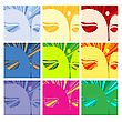 Faces Of Buddha, Conceptual Illustration stock vector
