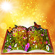 Fairy Tales From Magic Book. Abstract Fantasy Backgrounds With Beauty Bokeh stock illustration