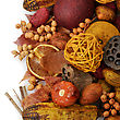 Fall Items :Fruits ,Seeds And Nuts stock photography