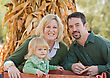 Family at Thanksgiving stock photography